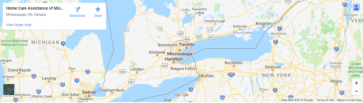 Home Care Assistance of Mississauga - MAP